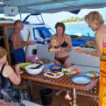 Catamaran lunch